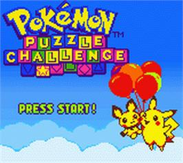 Title screen of Pokemon Puzzle Challenge on the Nintendo Game Boy Color.