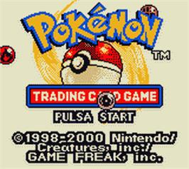 Title screen of Pokemon Trading Card Game on the Nintendo Game Boy Color.