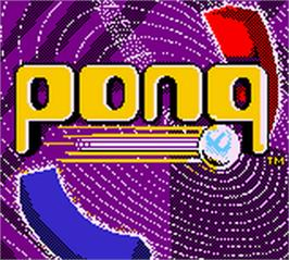 Title screen of Pong: The Next Level on the Nintendo Game Boy Color.