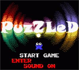 Title screen of Puzzled on the Nintendo Game Boy Color.