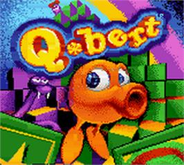 Title screen of Q*Bert on the Nintendo Game Boy Color.