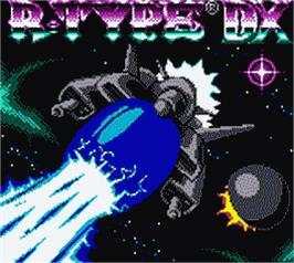 Title screen of R-Type DX on the Nintendo Game Boy Color.