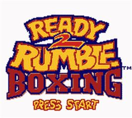 Title screen of Ready 2 Rumble Boxing on the Nintendo Game Boy Color.