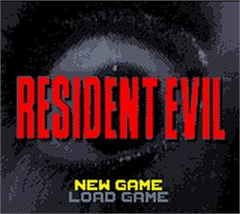 Title screen of Resident Evil: Gaiden on the Nintendo Game Boy Color.