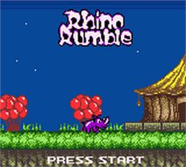 Title screen of Rhino Rumble on the Nintendo Game Boy Color.