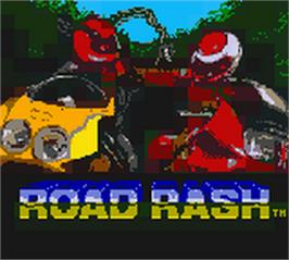 Title screen of Road Rash on the Nintendo Game Boy Color.