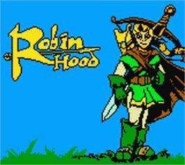 Title screen of Robin Hood on the Nintendo Game Boy Color.