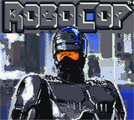 Title screen of RoboCop on the Nintendo Game Boy Color.