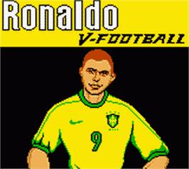 Title screen of Ronaldo V-Football on the Nintendo Game Boy Color.