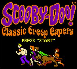 Title screen of Scooby Doo! Classic Creep Capers on the Nintendo Game Boy Color.