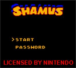 Title screen of Shamus on the Nintendo Game Boy Color.