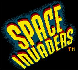 Title screen of Space Invaders on the Nintendo Game Boy Color.