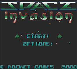 Title screen of Space Invasion on the Nintendo Game Boy Color.