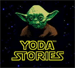 Title screen of Star Wars: Yoda Stories on the Nintendo Game Boy Color.