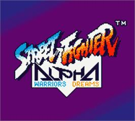 Title screen of Street Fighter Alpha: Warriors' Dreams on the Nintendo Game Boy Color.