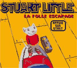 Title screen of Stuart Little: The Journey Home on the Nintendo Game Boy Color.