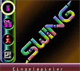 Title screen of Swing on the Nintendo Game Boy Color.