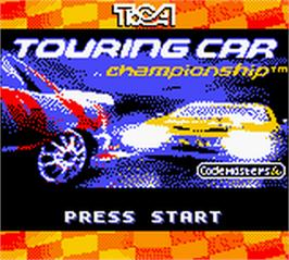 Title screen of TOCA Touring Car Championship on the Nintendo Game Boy Color.
