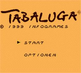 Title screen of Tabaluga on the Nintendo Game Boy Color.