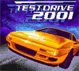 Title screen of Test Drive 2001 on the Nintendo Game Boy Color.