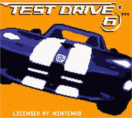 Title screen of Test Drive 6 on the Nintendo Game Boy Color.