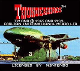 Title screen of ThunderBirds Are Go on the Nintendo Game Boy Color.