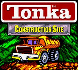 Title screen of Tonka Construction Site on the Nintendo Game Boy Color.