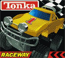 Title screen of Tonka Raceway on the Nintendo Game Boy Color.