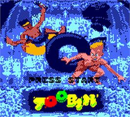 Title screen of Toobin' on the Nintendo Game Boy Color.