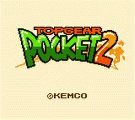 Title screen of Top Gear Pocket 2 on the Nintendo Game Boy Color.