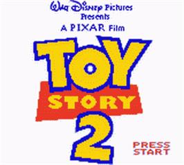 Title screen of Toy Story 2: Buzz Lightyear to the Rescue on the Nintendo Game Boy Color.