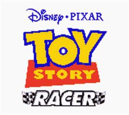 Title screen of Toy Story Racer on the Nintendo Game Boy Color.