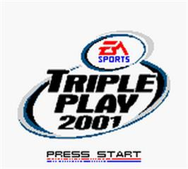 Title screen of Triple Play 2001 on the Nintendo Game Boy Color.
