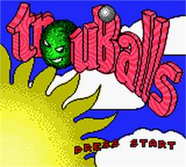 Title screen of Trouballs on the Nintendo Game Boy Color.