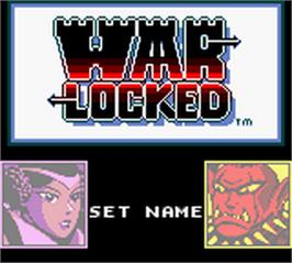 Title screen of Warlocked on the Nintendo Game Boy Color.