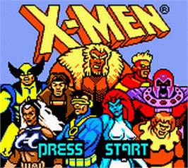 Title screen of X-Men: Mutant Academy on the Nintendo Game Boy Color.