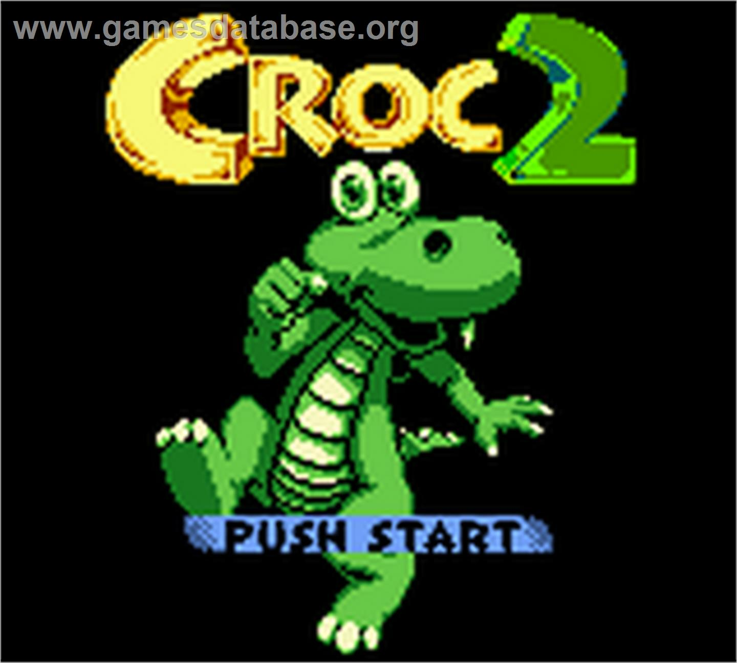 Title screen of Croc 2 on the Nintendo Game Boy Color.