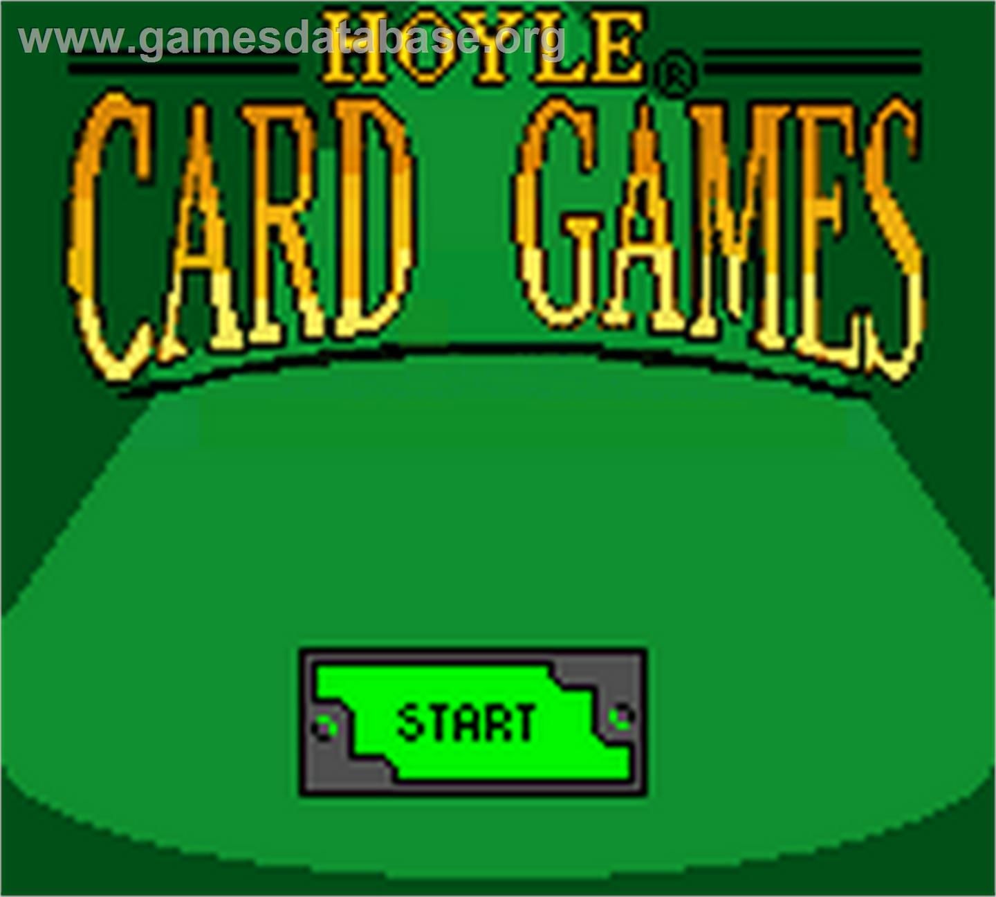 Title screen of hoyle card games on the nintendo game boy color