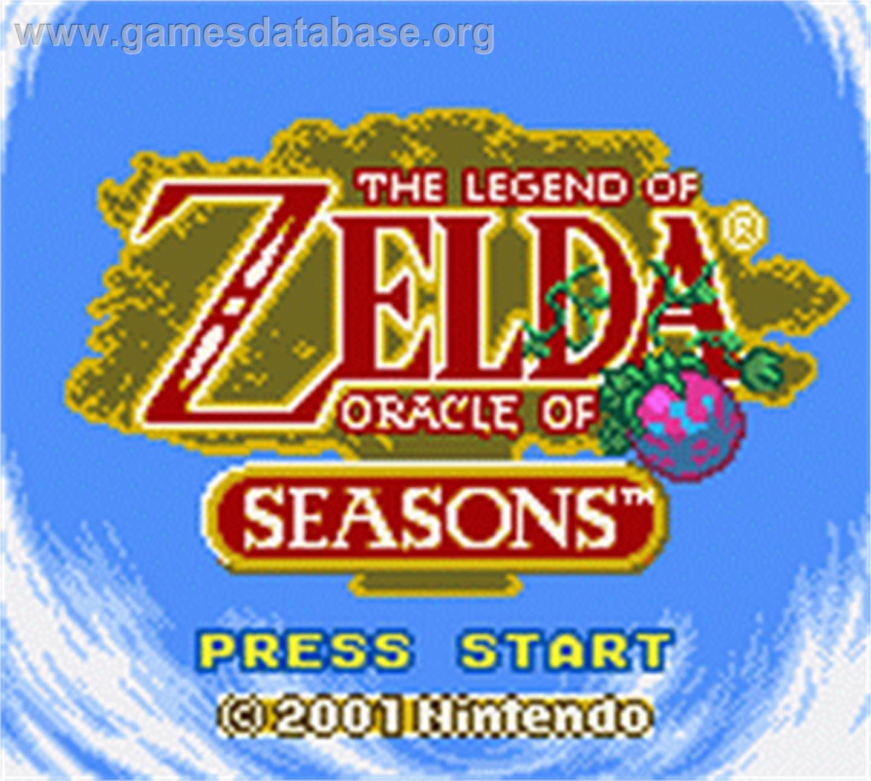 Game boy color legend of zelda - Legend Of Zelda Oracle Of Seasons Nintendo Game Boy Color Artwork Title Screen