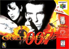Box cover for 007: Golden Eye on the Nintendo N64.
