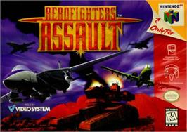 Box cover for Aero Fighters Assault on the Nintendo N64.