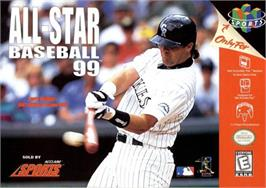 Box cover for All-Star Baseball '99 on the Nintendo N64.