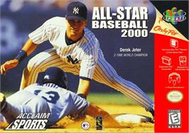 Box cover for All-Star Baseball 2000 on the Nintendo N64.