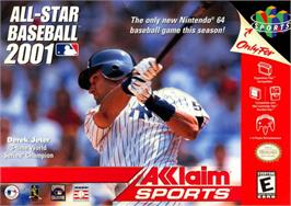 Box cover for All-Star Baseball 2001 on the Nintendo N64.