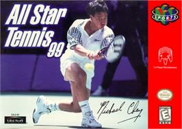 Box cover for All Star Tennis '99 on the Nintendo N64.