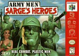 Box cover for Army Men: Sarge's Heroes on the Nintendo N64.