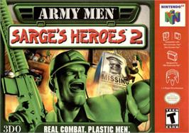 Box cover for Army Men: Sarge's Heroes 2 on the Nintendo N64.