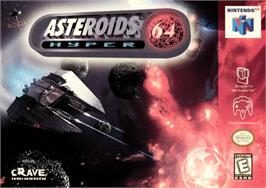 Box cover for Asteroids Hyper 64 on the Nintendo N64.