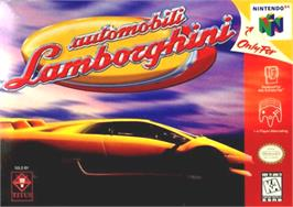 Box cover for Automobili Lamborghini: Super Speed Race 64 on the Nintendo N64.