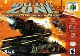 Box cover for Battle Zone: Rise of the Black Dogs on the Nintendo N64.